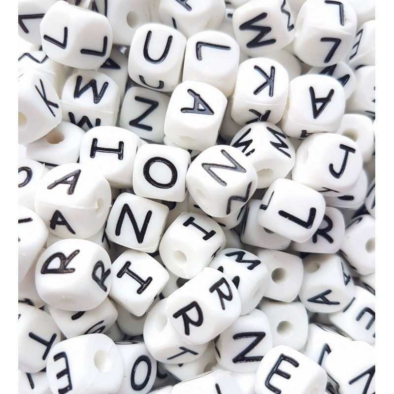 Buchstabenwürfel 10mm 50 Stk. gemischt