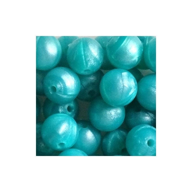 Perlen rund 12mm metalic Farben