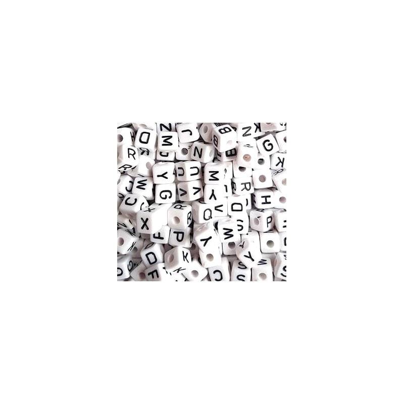Acryl Buchstaben weiss/schwarz 550 Stk