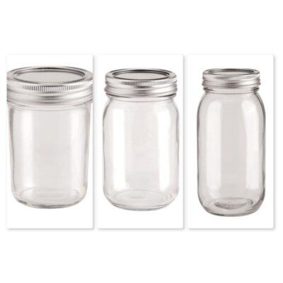 Glas mit 2-tlg. Deckel