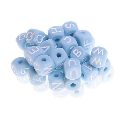Buchstabenwürfel 10mm gemischt babyblau