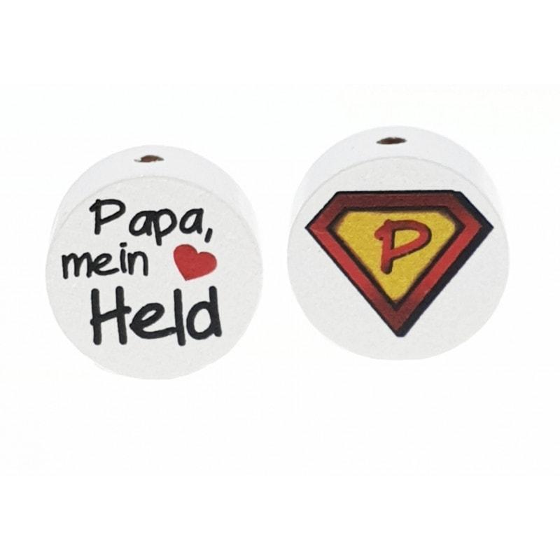 """""""Papa mein Held"""" Motivscheibe Holz"""
