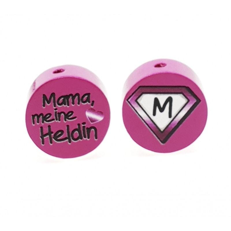 """""""Mama meine Heldin"""" Motivscheibe Holz"""