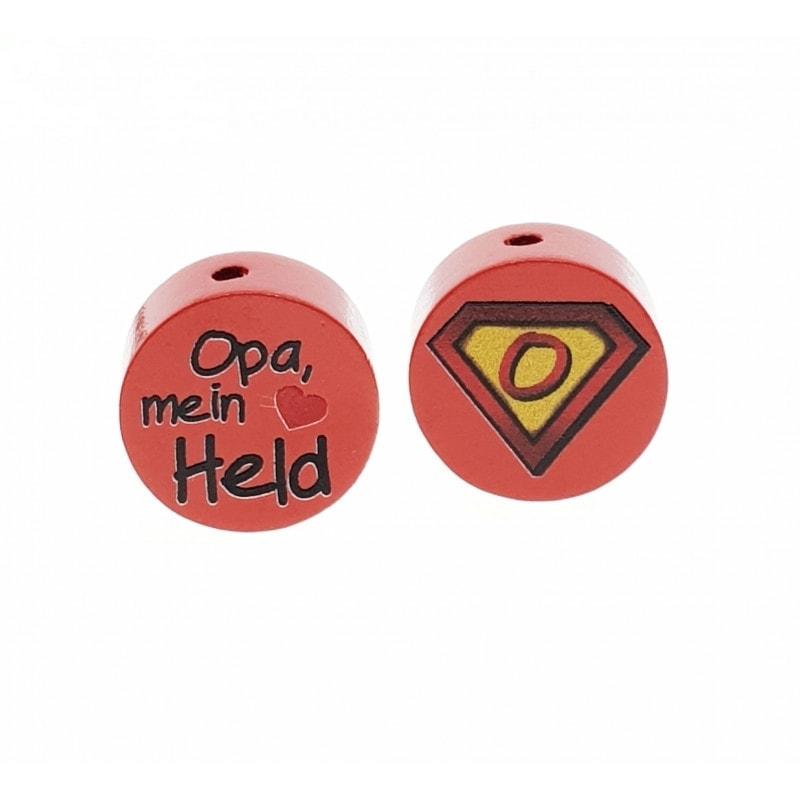 """Opa mein Held"" Motivscheibe Holz"