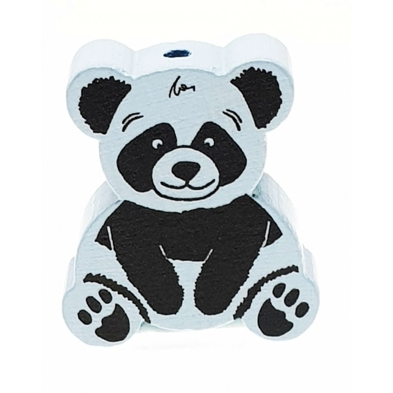 """Panda uni"" Formperle Holz"