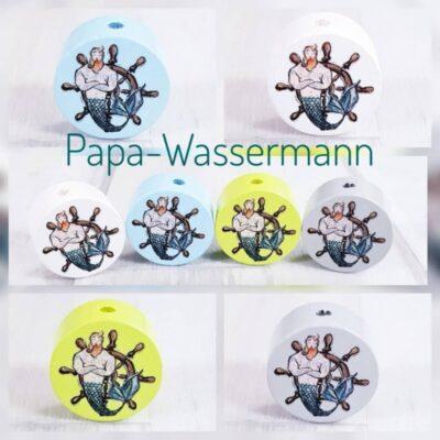 """""""Papa Wassermann"""" Motivscheibe Holz"""