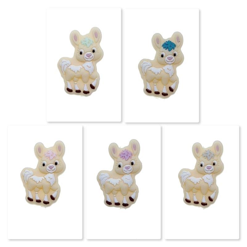 Alpaka Perle farbig